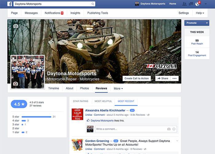 Daytona Motorsports Facebook page