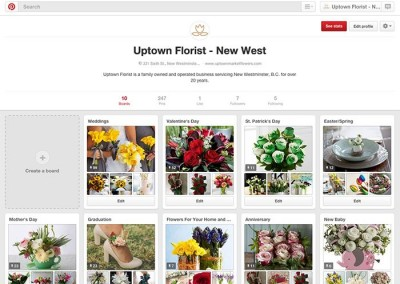 Uptown Florist on Pintrest