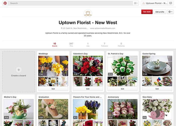 Uptown Florist on Pintrest